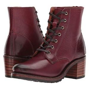"Frye ""Wine"" Sabrina 6G Boots"